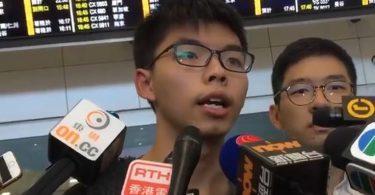 Joshua Wong bangkok back