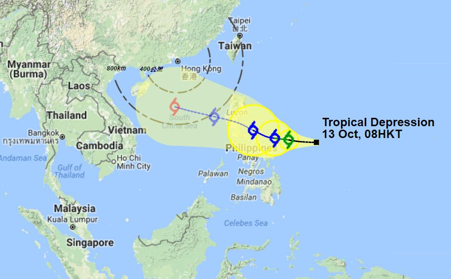 Tropical depression Oct 13