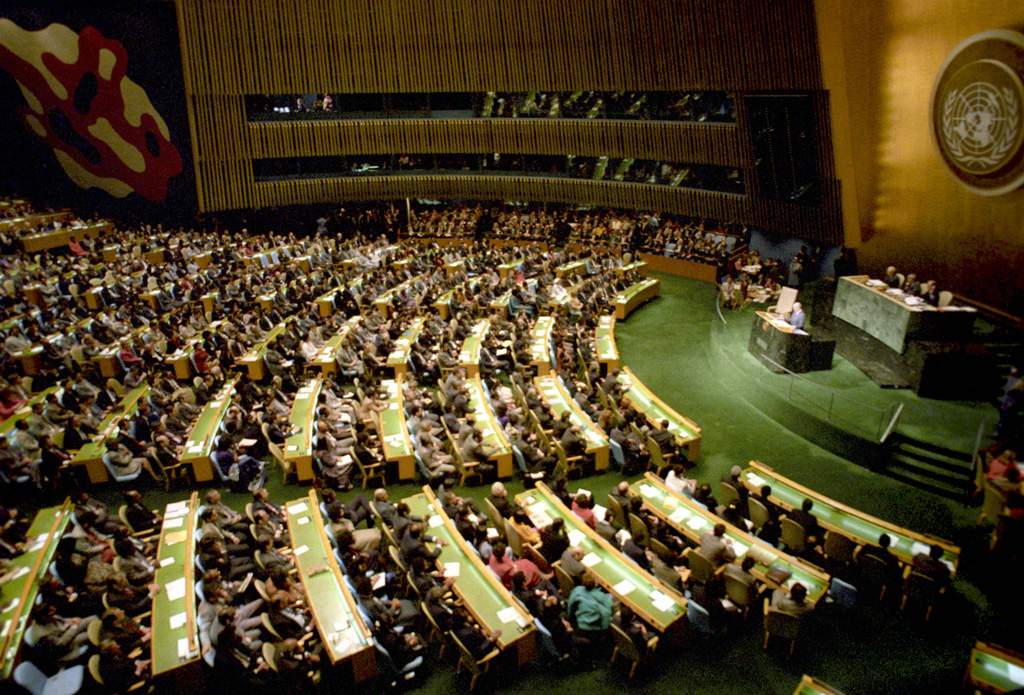 Image result for un assembly in 1971""