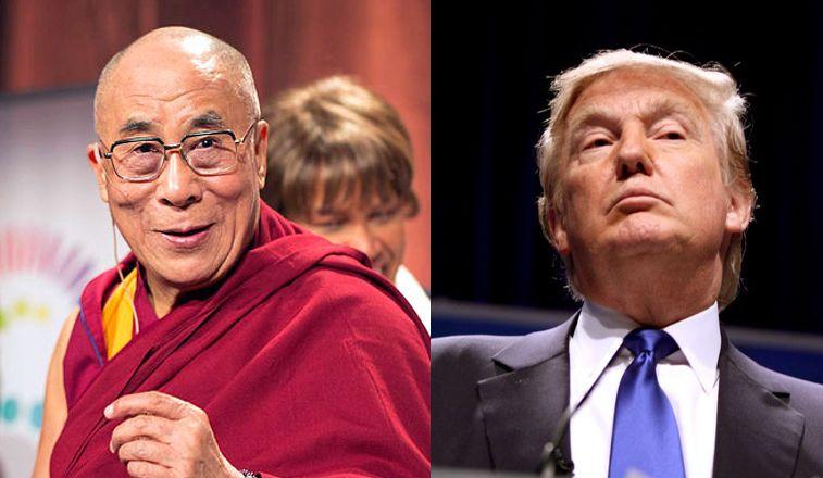 The Dalai Lama and Donald Trump