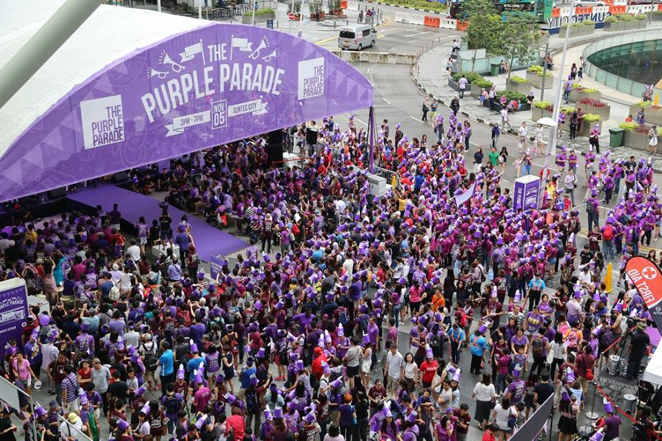 Purple parade