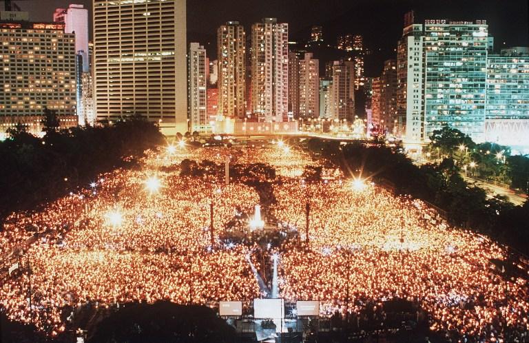 vigil hong kong tiananmen
