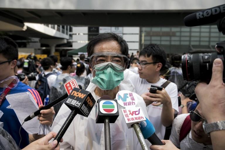 martin lee democracy occupy hong kong protest umbrella