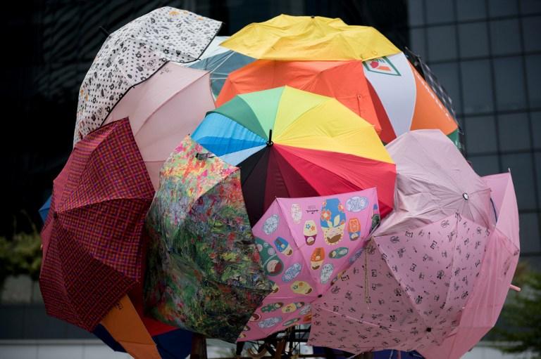 umbrellas democracy occupy hong kong protest