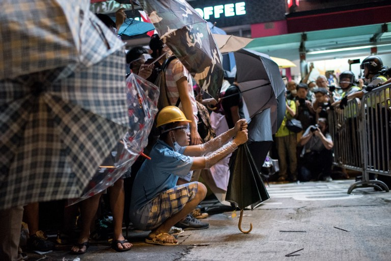 umbrella mong kok democracy occupy hong kong protest