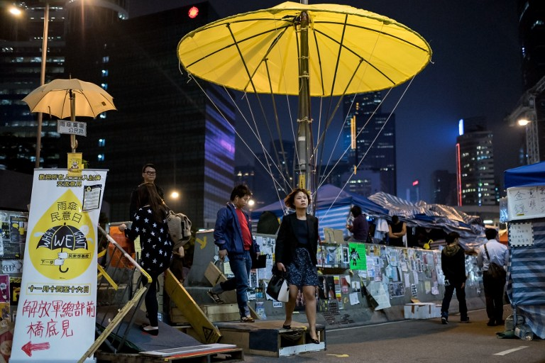 umbrella movement democracy occupy hong kong protest