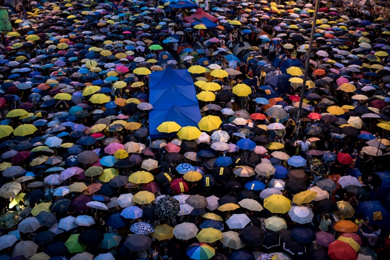 umbrellas democracy occupy hong kong protest