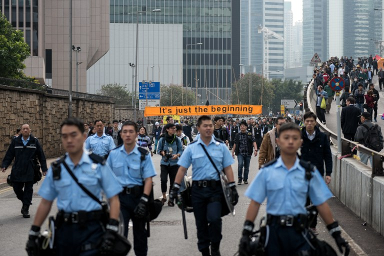 police democracy occupy hong kong protest