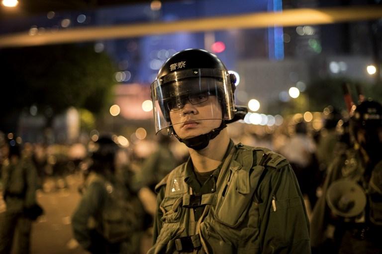 police democracy occupy hong kong protest umbrella