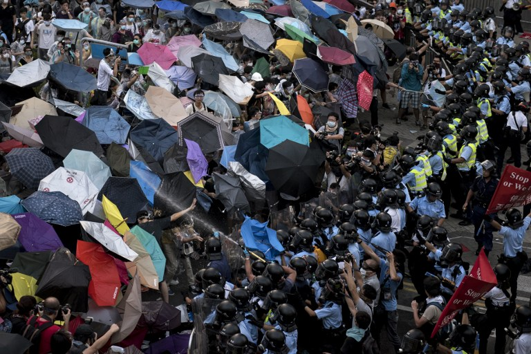 democracy occupy hong kong protest umbrella umbrellas