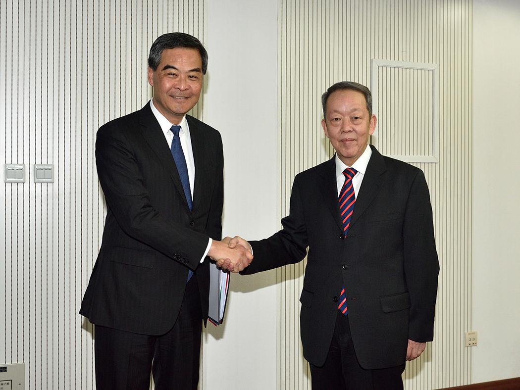 Leung Chun-ying Wang Guangya