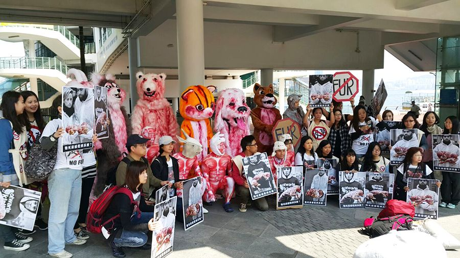 anti-fur protest