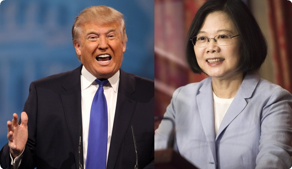 Image result for Donald Trump and Tsai Ing-wen
