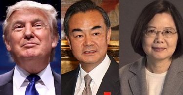 Donald Trump, Wang Yi and Tsai Ing-wen.
