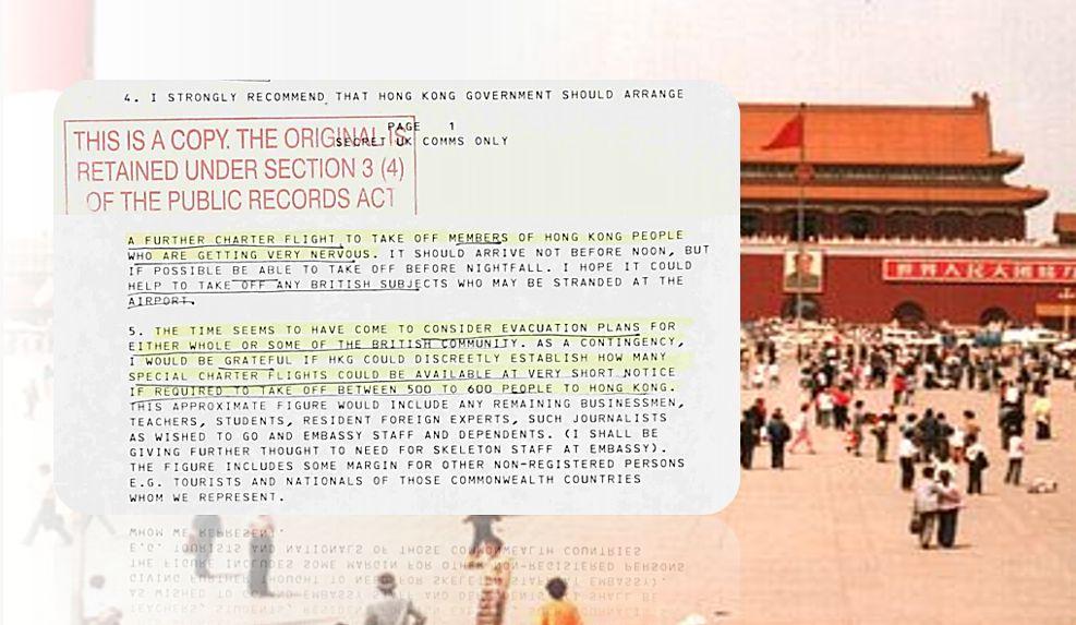 tiananmen documents