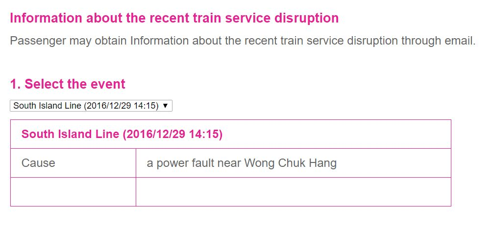 South Island Line power fault