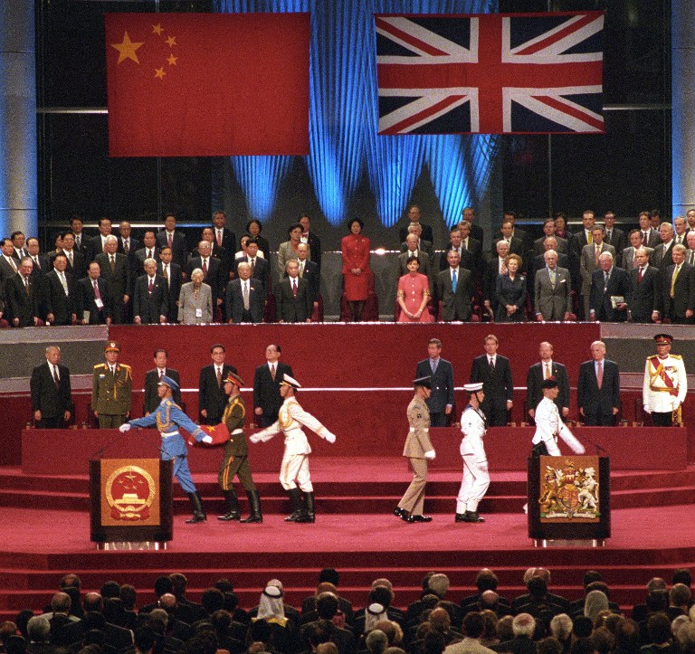 hong kong handover to china britain