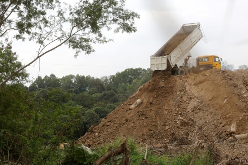 waste dump Tin Shui Wai