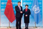 Xi Jinping (L), Magaret Chan (R). Photo: World Health Organization/L Cipriani.