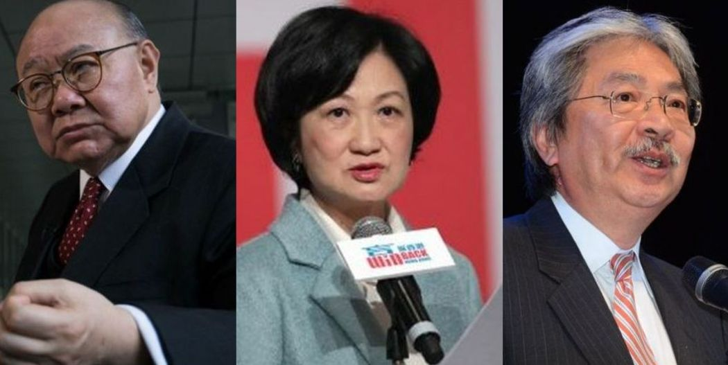 Woo Kwok-hing, Regina Ip and John Tsang