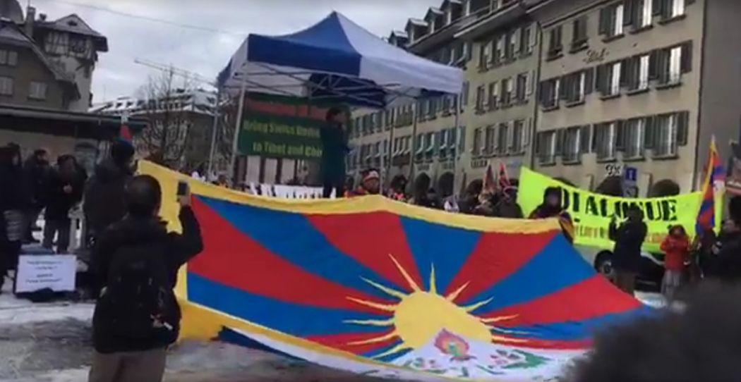 switzerland tibet protest