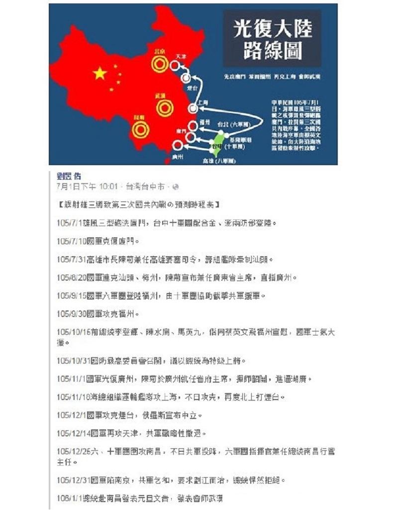 Weiboscope Taiwan invasion