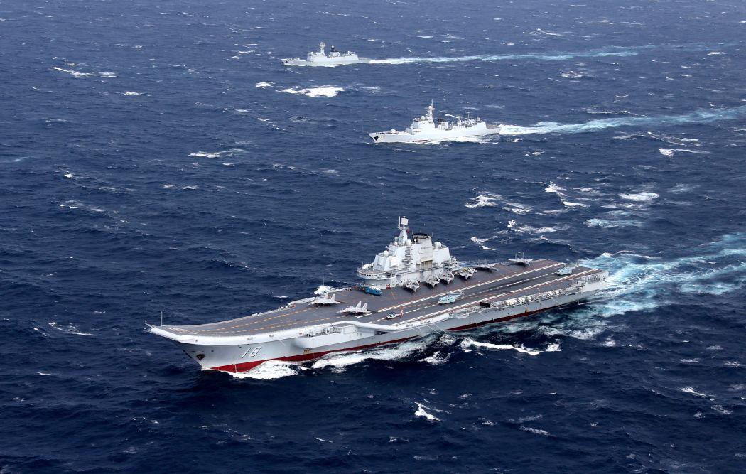 liaoning carrier china south china sea