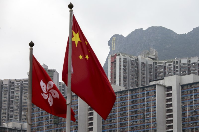 one country two systems flag hong kong china lion rock occupyhk