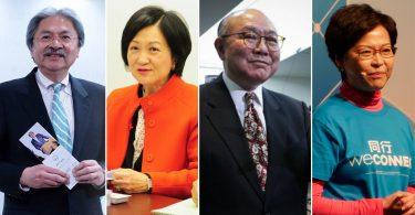 John Tsang Regina Ip Woo Kwok-hing Carrie Lam