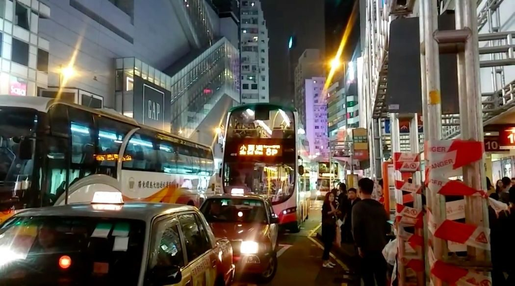 bus taxi protest