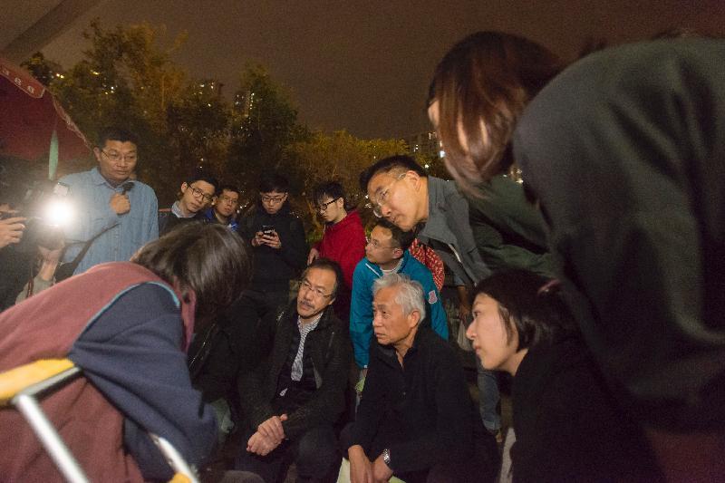 homeless visit legislator lawmaker sham shui po