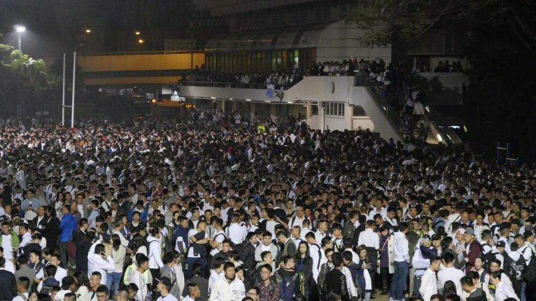 police rally