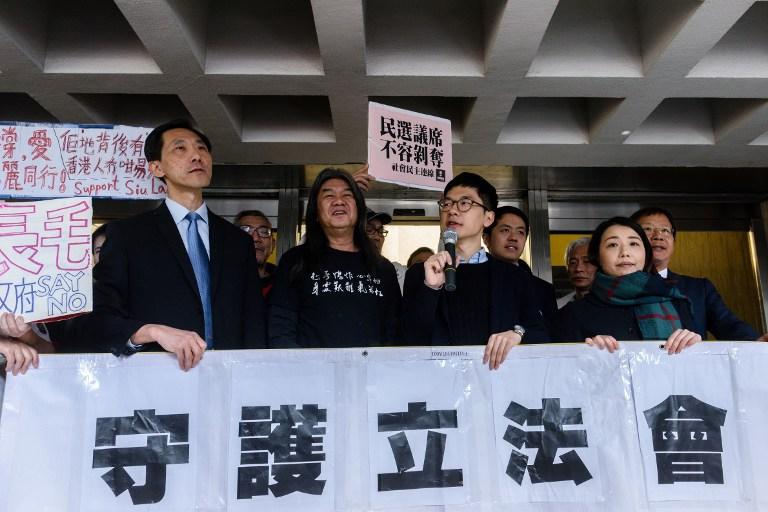 pro democracy lawmakers court
