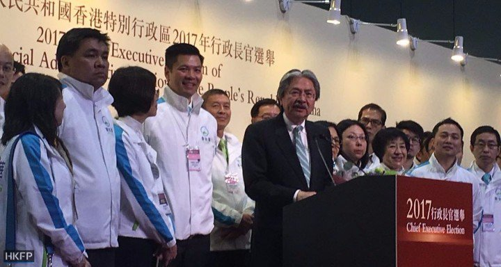 chief executive election 2017 John Tsang, Carrie Lam and Woo Kwok-hing
