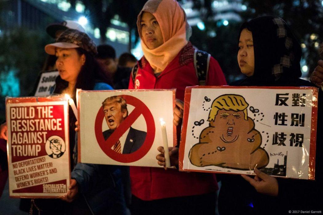 donald trump sexism women gender protest