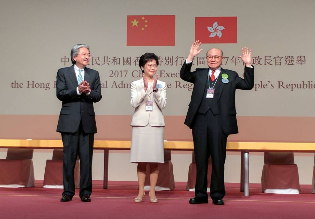 John Tsang, Carrie Lam and Woo Kwok-hing