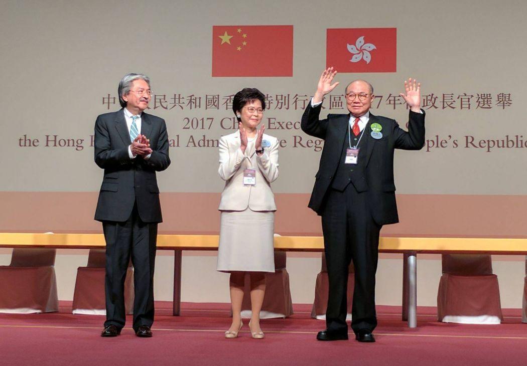 John Tsang, Carrie Lam and Woo Kwok-hing