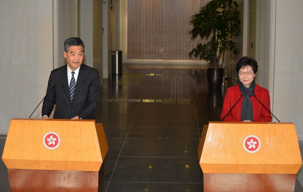 Leung Chun-ying Carrie Lam