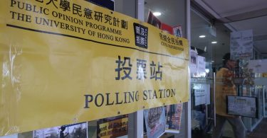 chief executive election referendum polling station