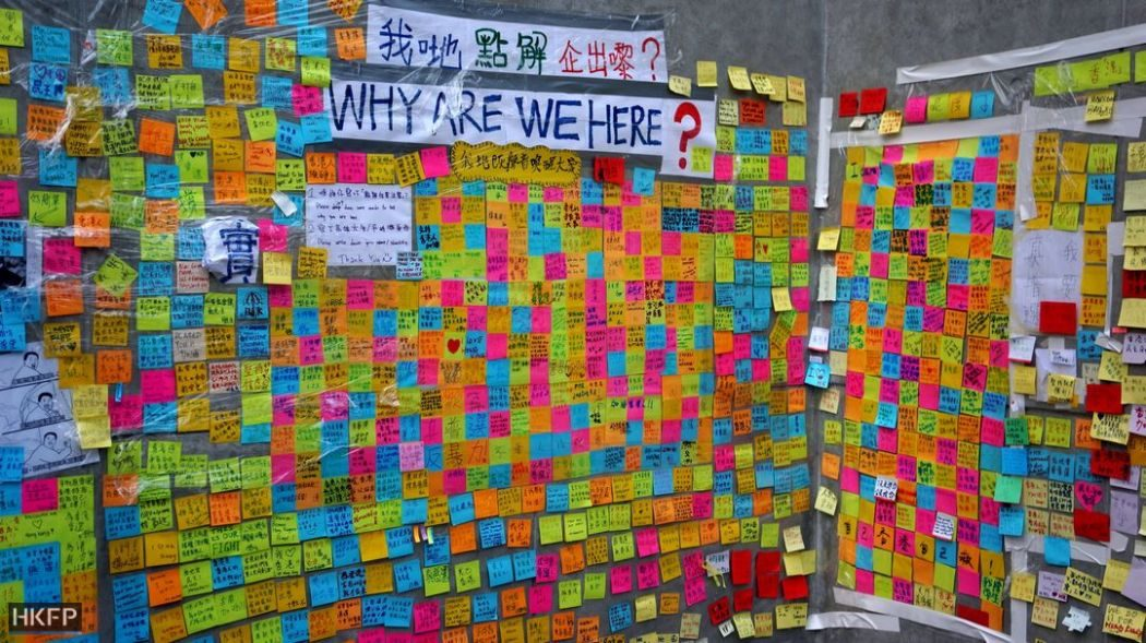 occupy democracy postits lennon wall