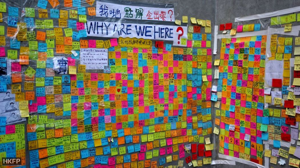 occupy democracy postits lennon wall