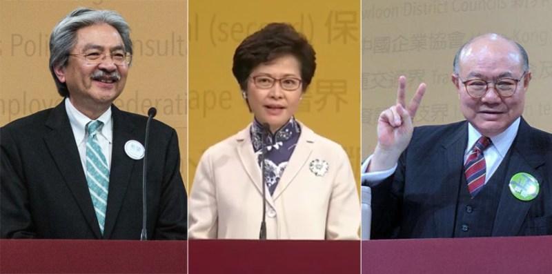 John Tsang Carrie Lam Woo Kwok-hing