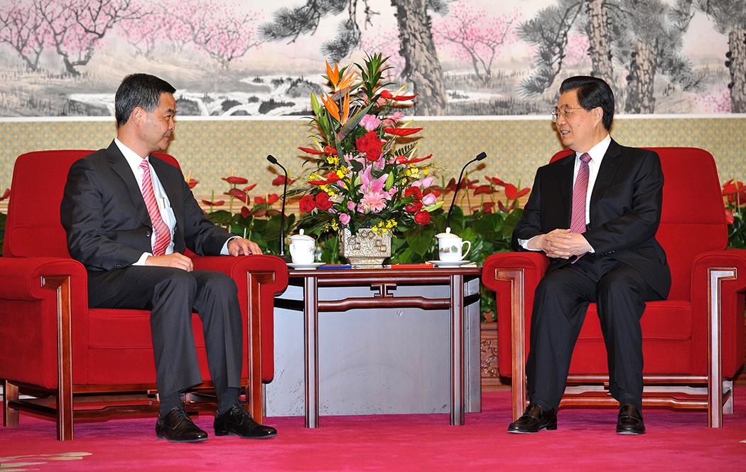 Leung Chun-ying Hu Jintao