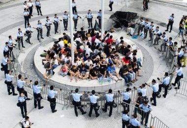civic square gov complex police scholarism hkfs