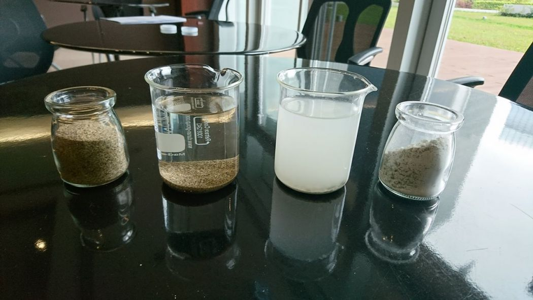 stone powder water
