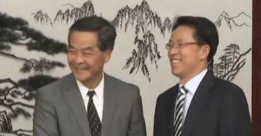 Leung Chun-ying Zhang Xiaoming