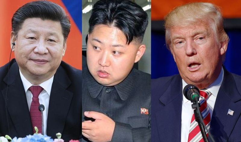 Xi Jinping, Kim Jong-un and Donald Trump.