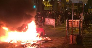mong kok unrest riot fire