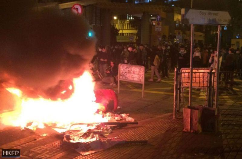mong kok unrest riot fire