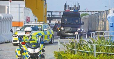 police anti-explosive van